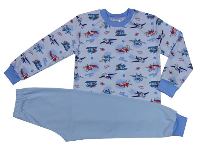 dcaf3b85d61 Dětské Pyžamo Modré letadla JerryJane