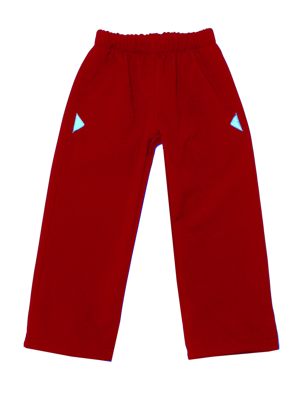 382251efe79c Dětské softshellové kalhoty červené JerryJane